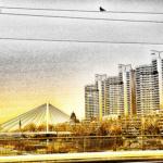 Vogel-Brücke-Hochhäuser